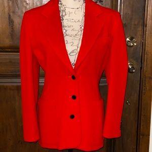 Escada Margaretha Ley Women's 36 Red Wool Jacket.